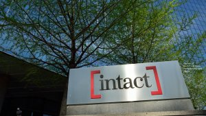 Intact Financial Corporation logo on a sign outside