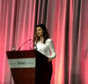 Natalia Moudrak speaking at CanAdapt2016