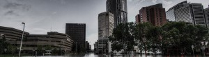 Downtown Calgary flooded in 2013