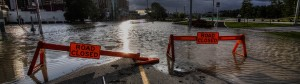 Photo of closed roads during Calgary 2013 floods