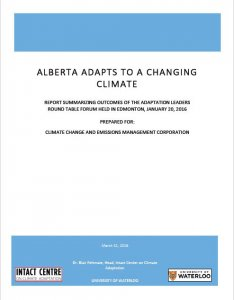 Front Cover of CCEMC Report on CLimate Adaptation