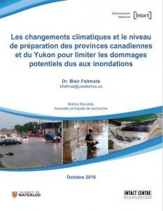 French cover of Climate Change Preparedness of Provinces report