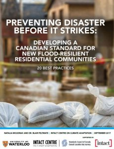 """Front Cover of Report """"Preventing Disaster Before it Strikes"""" for flood resilient communities"""