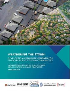 "Front page of the report ""Weathering the Storm"""